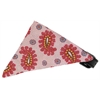 Mirage Pet Products Light Pink Pretty Paisley Bandana Pet Collar Black Size 14