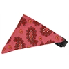 Mirage Pet Products Bubblegum Pink Pretty Paisley Bandana Pet Collar Black Size 16