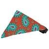 Mirage Pet Products Red Pretty Paisley Bandana Pet Collar Black Size 16