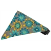 Mirage Pet Products Grey Crazy Daisies Bandana Pet Collar Black Size 14