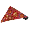 Mirage Pet Products Bright Pink Crazy Daisies Bandana Pet Collar Black Size 10