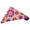 Mirage Pet Products Bubblegum Pink Crazy Daisies Bandana Pet Collar Black Size 16