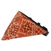 Mirage Pet Products Orange Western Bandana Pet Collar Black Size 10