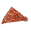 Mirage Pet Products Orange Western Bandana Pet Collar White Size 12