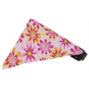 Mirage Pet Products Light Pink Crazy Daisies Bandana Pet Collar Black Size 12