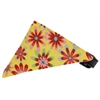 Mirage Pet Products Yellow Crazy Daisies Bandana Pet Collar Black Size 14