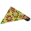 Mirage Pet Products Lime Green Crazy Daisies Bandana Pet Collar Black Size 14