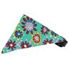 Mirage Pet Products Aqua Crazy Daisies Bandana Pet Collar Black Size 16