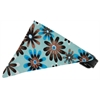 Mirage Pet Products Baby Blue Crazy Daisies Bandana Pet Collar Black Size 10