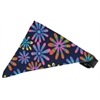 Mirage Pet Products Navy Crazy Daisies Bandana Pet Collar Black Size 14