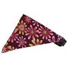 Mirage Pet Products Royal Purple Crazy Daisies Bandana Pet Collar Black Size 18