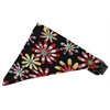 Mirage Pet Products Black Crazy Daisies Bandana Pet Collar Black Size 16