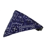 Mirage Pet Products Purple Western Bandana Pet Collar Black Size 12