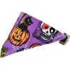 Mirage Pet Products Purple and Pumpkins Bandana Pet Collar Black Size 10