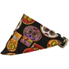 Mirage Pet Products Crazy Skulls Bandana Pet Collar Black Size 16