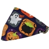 Mirage Pet Products Classic Halloween Bandana Pet Collar Black Size 16
