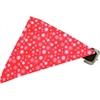 Mirage Pet Products Red Snowflake Bandana Pet Collar Black Size 18