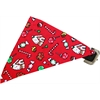 Mirage Pet Products Candy Land Bandana Pet Collar Black Size 12