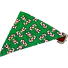 Mirage Pet Products Candy Cane Bandana Pet Collar Red Size 20