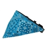 Mirage Pet Products Turquoise Western Bandana Pet Collar Black Size 12