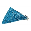 Mirage Pet Products Turquoise Western Bandana Pet Collar White Size 14
