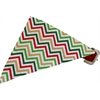 Mirage Pet Products Christmas Chevron Bandana Pet Collar Red Size 10