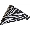 Mirage Pet Products Zebra Print Bandana Pet Collar  Black Size 16