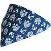 Mirage Pet Products Blue Anchor Bandana Pet Collar  Black Size 10