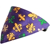 Mirage Pet Products Mardi Gras Fleur De Lis Bandana Pet Collar  Black Size 20