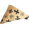 Mirage Pet Products Gold Fleur De Lis Bandana Pet Collar  Black Size 14