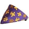Mirage Pet Products Purple Fleur De Lis Bandana Pet Collar  Black Size 16