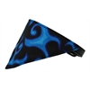 Mirage Pet Products Blue Flame Bandana Pet Collar Black Size 14