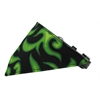 Mirage Pet Products Green Flame Bandana Pet Collar Black Size 10