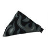 Mirage Pet Products Grey Flame Bandana Pet Collar Black Size 18