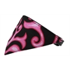 Mirage Pet Products Pink Flame Bandana Pet Collar Black Size 14