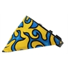 Mirage Pet Products Yellow Flame Bandana Pet Collar Black Size 14