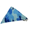 Mirage Pet Products Blue Camo Bandana Pet Collar White Size 14
