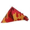 Mirage Pet Products Girly Camo Bandana Pet Collar Red Size 10