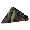 Mirage Pet Products Green Camo Bandana Pet Collar Black Size 10