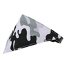 Mirage Pet Products Grey Camo Bandana Pet Collar Black Size 12