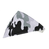 Mirage Pet Products Grey Camo Bandana Pet Collar White Size 16