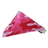 Mirage Pet Products Pink Camo Bandana Pet Collar White Size 10