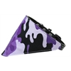 Mirage Pet Products Purple Camo Bandana Pet Collar Black Size 16