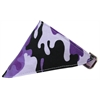 Mirage Pet Products Purple Camo Bandana Pet Collar Lavender Size 20