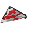 Mirage Pet Products Red Camo Bandana Pet Collar Black Size 10