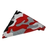 Mirage Pet Products Red Camo Bandana Pet Collar Red Size 18