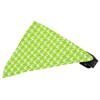 Mirage Pet Products Lime Houndstooth Bandana Pet Collar Black Size 14
