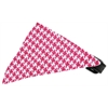 Mirage Pet Products Bright Pink Houndstooth Bandana Pet Collar Black Size 16