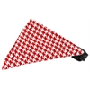 Mirage Pet Products Red Houndstooth Bandana Pet Collar Black Size 18