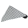 Mirage Pet Products Grey Houndstooth Bandana Pet Collar Black Size 14